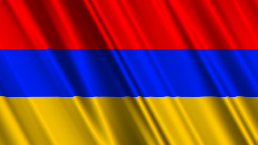Armenia Flag Loop 1 - HD stock video clip