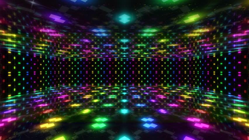 Virtual Dance Floor Disco Lights Background 4 - For Titles ... |Club Dance Floor Background