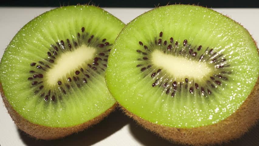 Sweet and Ripe Kiwi Fruit. - Ripe Kiwi fruit freshly sliced and ready to be eaten.