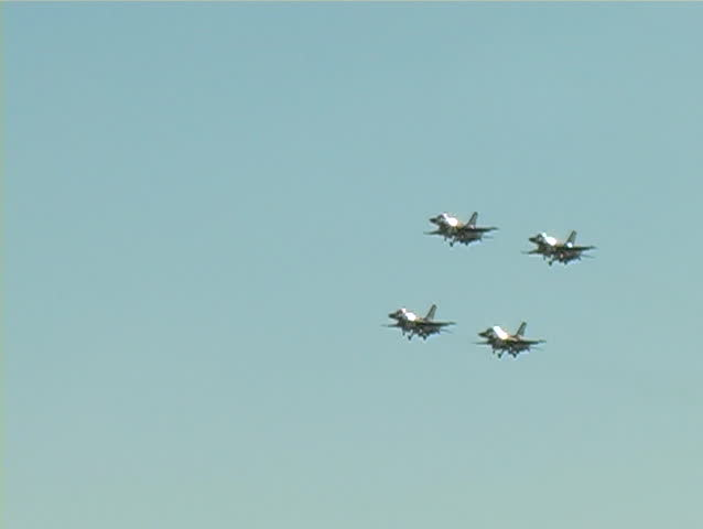 Thunder Birds performing at an air show in California.