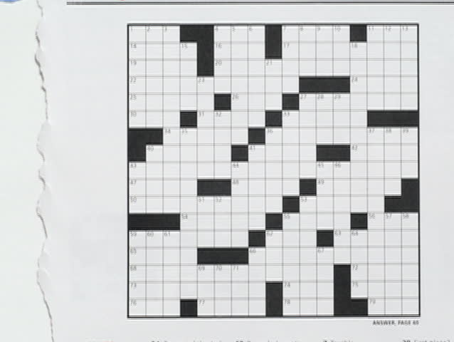 An Animation Depicting The Creation Of A Blank Crossword Template – Blank Crossword Template