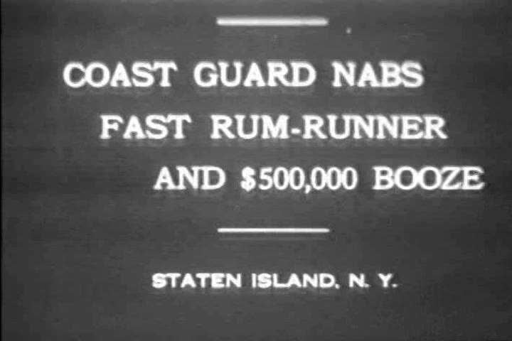 CIRCA 1920s - Coast guard snares rum-runner in the 1920s.