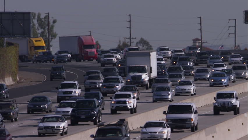 MS Traffic on highway / California, USA - HD stock footage clip