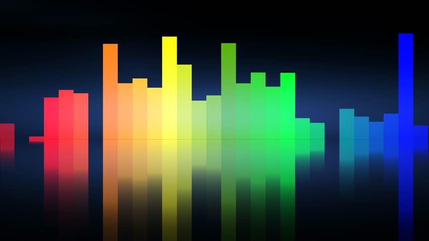 digital audio spectrum wave effect stock footage video