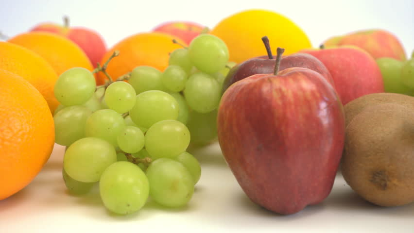 4k motorized dolly shot of colourful fruits - 4K stock footage clip