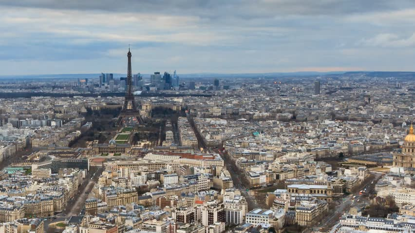 Beautiful Full HD timelapse of Paris, France, seen from the Montparnasse tower at sunset   Shutterstock HD Video #14500678