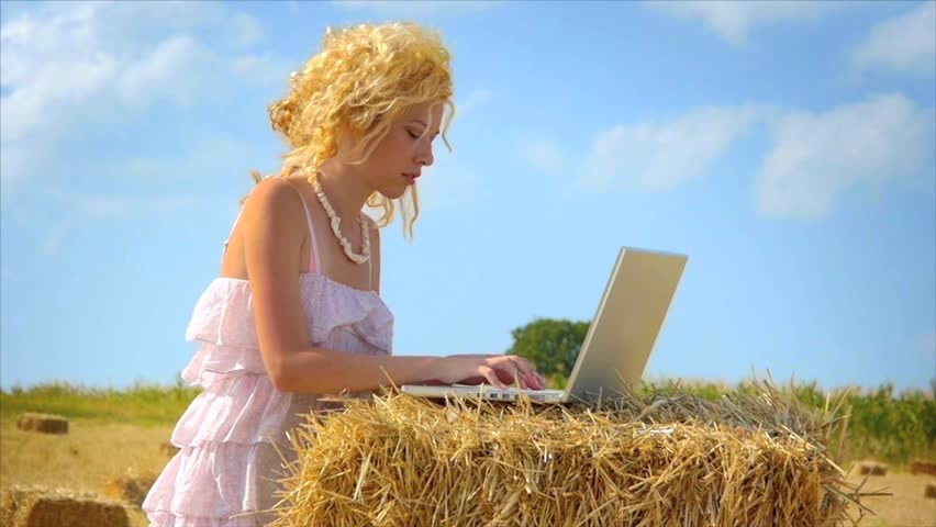 Internet everywhere - slow motion - HD stock footage clip