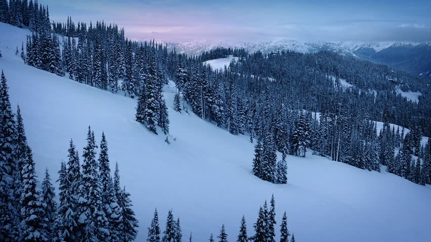 Moving Up Snowy Mountainside At Sunrise | Shutterstock HD Video #14562220