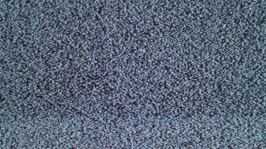 Old television noise filmed in 4K Ultra HD - 4K stock footage clip