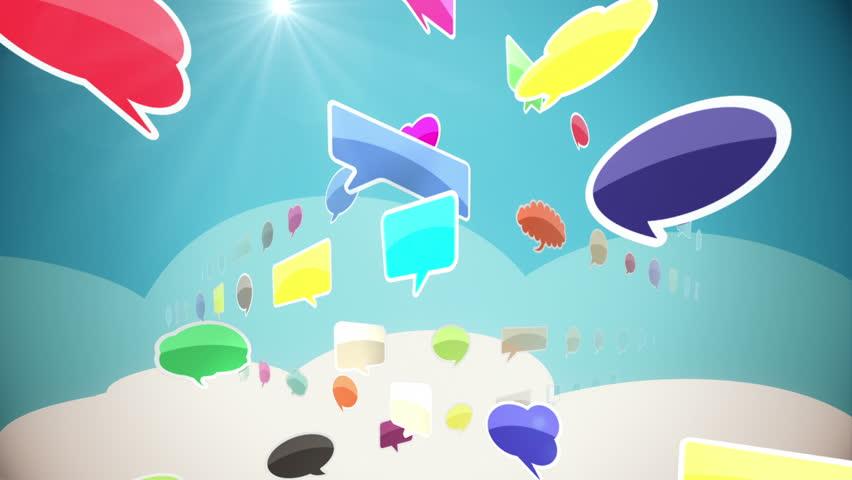 Colorful Social Network Seamless Loop