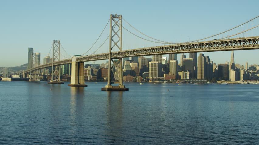 Aerial view San Francisco USA Oakland Bay Bridge city Skyscraper #14608408