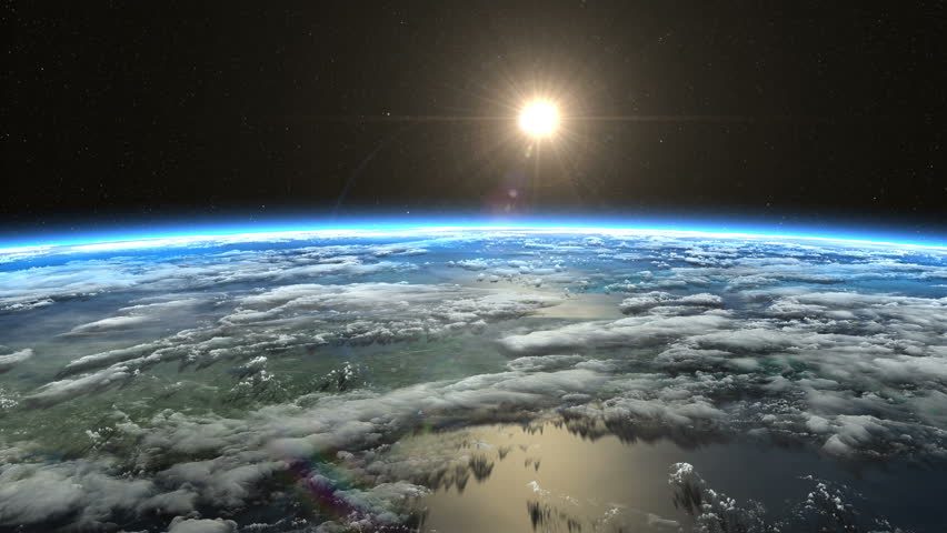 beautiful sunrise and space - photo #48