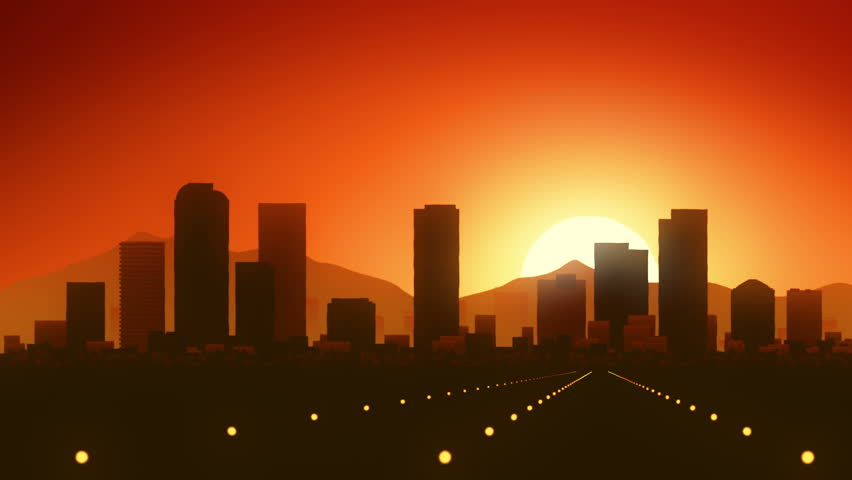 Denver Colorado USA America Skyline Sunrise Landing  | Shutterstock HD Video #14639566
