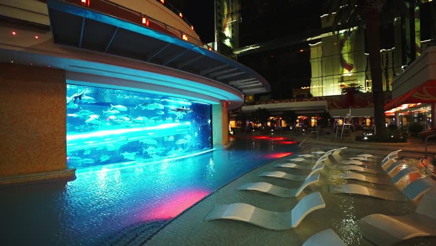 Very nice outdoor pool in Las Vegas - LAS VEGAS, NEVADA/USA APRIL 20, 2015 - HD stock video clip