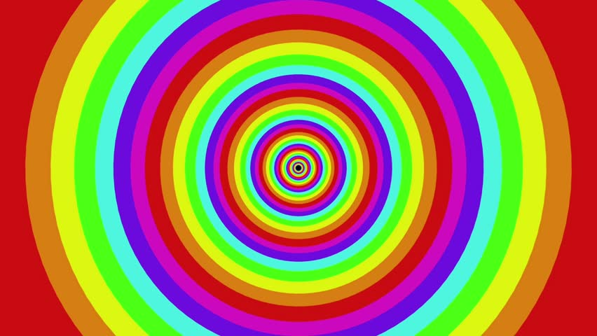Colorful Background Rainbow Rotating Spiral 2d Animation