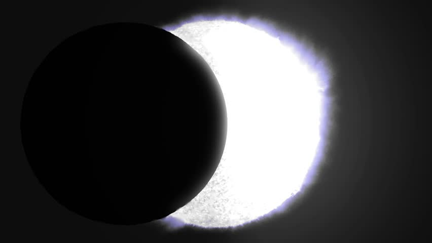 Solar eclipse sun moon planet earth space cosmic system 4k #14770084