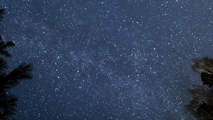 Milky Way is spinning. UltraHD (4K)