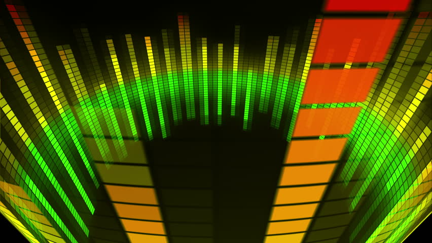 Music Equalizer Wallpaper: Sound Wave Graphics Equalizer. Computer Generated Abstract
