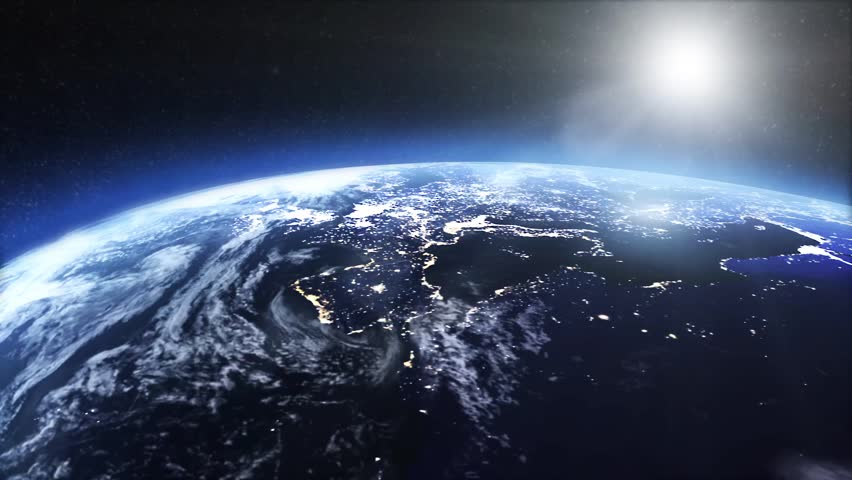 Satellite view of the earth at night | Shutterstock HD Video #14797435