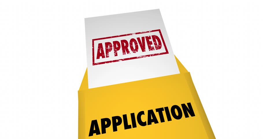 application approved letter notice in open envelope stock footage video 8811445
