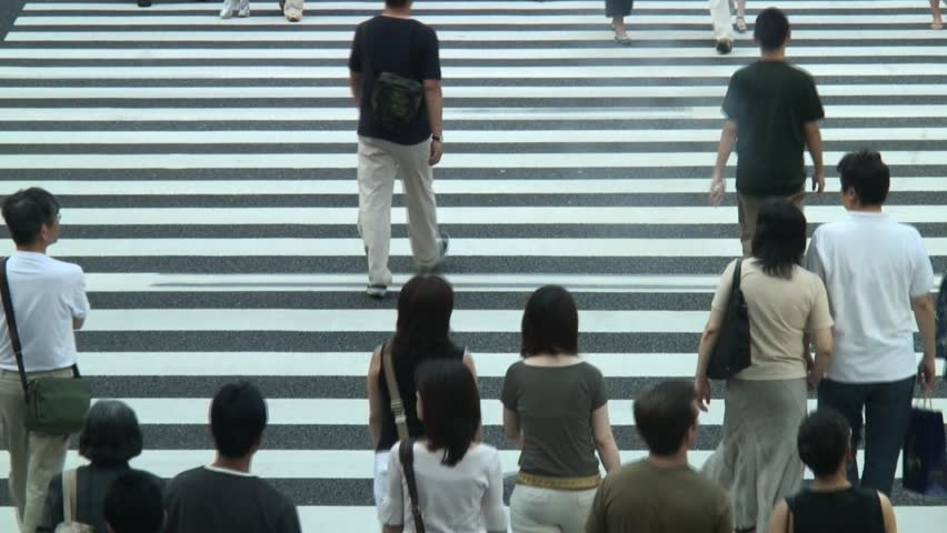 crossing time-lapse - HD stock footage clip