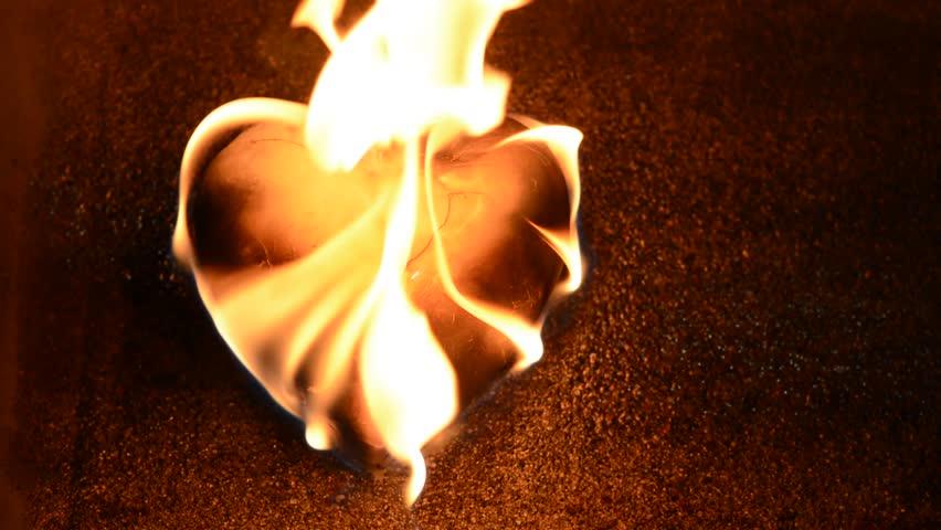 Burning Golden Heart from shutterstock