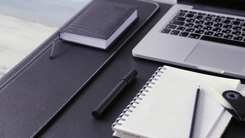 business work wallpaper: Workspace Work Desktop Black And White Business Stylish