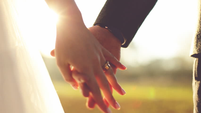 Marry Me Today And Everyday. Newlywed Couple Holding Hands, Shot In Slow Motion | Shutterstock HD Video #15004255