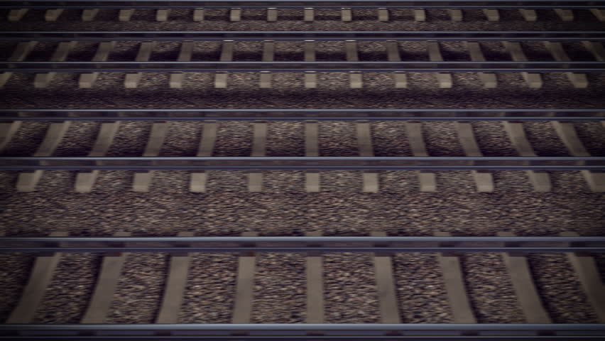 Looping Train Track Journey. - 4K stock footage clip