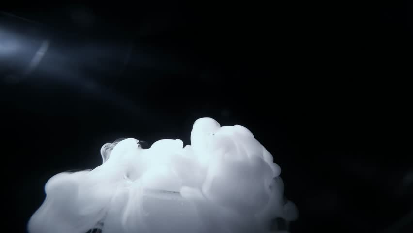 a Series of Chemical Experiments in the Laboratory With Smoky Dry Ice (Frozen Co2) and Hot Water - 4K stock footage clip