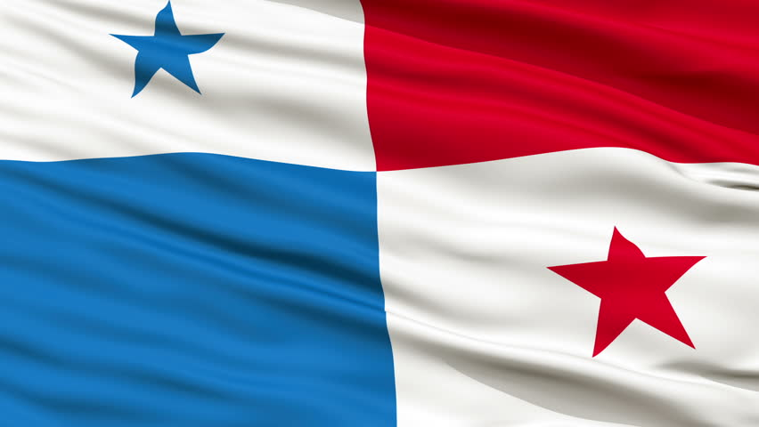 Panama Flag Close Up Realistic Animation Seamless Loop - 10 Seconds Long - HD stock video clip