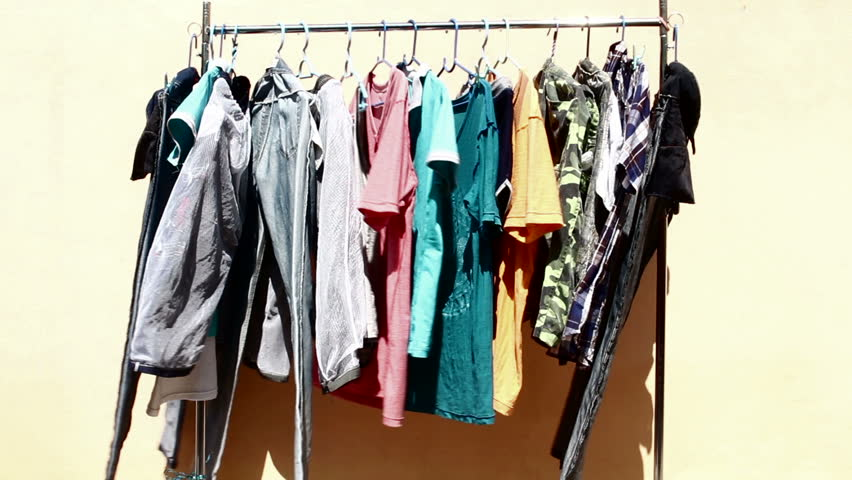 Clothes line on isolated background | Shutterstock HD Video #15071746