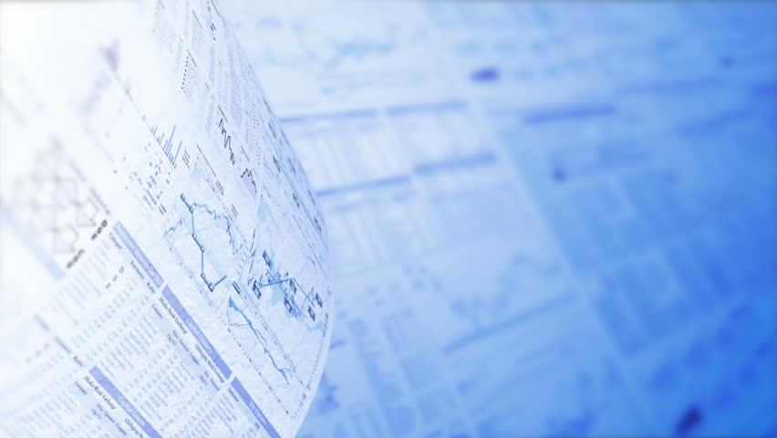 Financial Chart Background In Blue, LOOP, 4k - Ultra HD ...