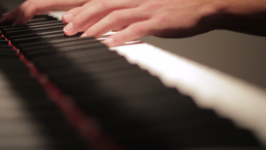 Playing the piano (difficult piece)
