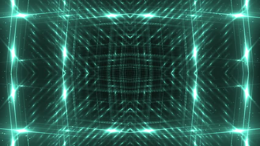 VJ Fractal neon kaleidoscopic background. Background motion with fractal design. Disco spectrum lights concert spot bulb. Light Tunnel. | Shutterstock HD Video #15231037