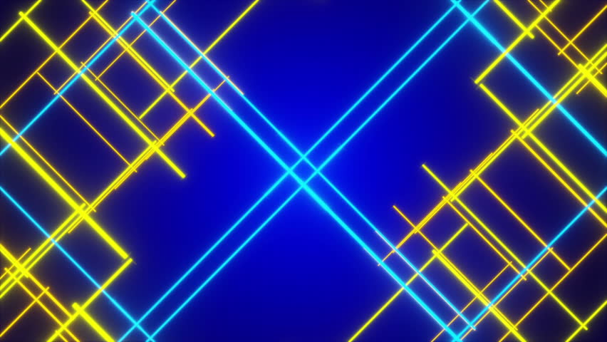 4k blue background and gold particle element loop stock