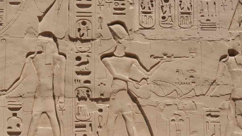 Egypt Hieroglyphics - HD stock footage clip