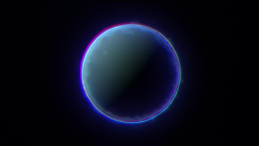 MOON WITH BLUE ENERGY / MOON BLUE / An animation of a moon with blue energy or aura around it.  | Shutterstock HD Video #15342772