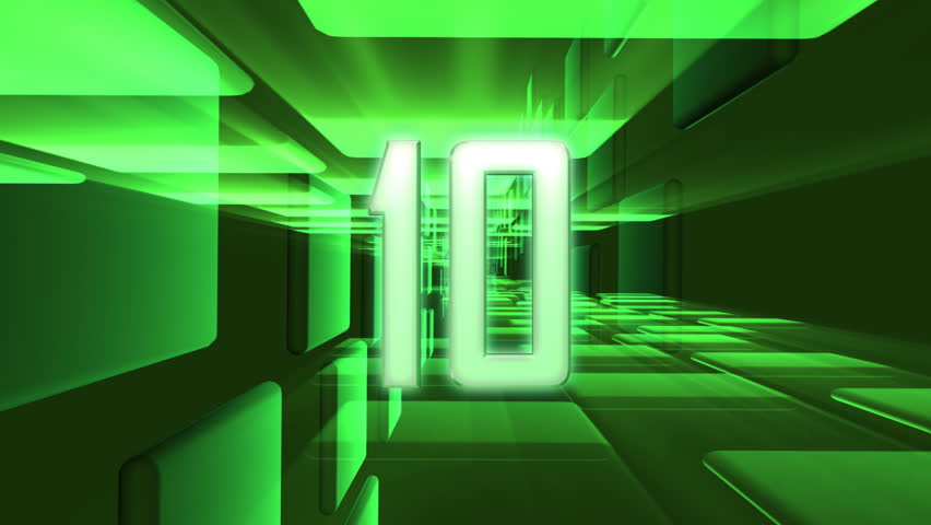 Countdown from 10 to 1 - HD stock footage clip