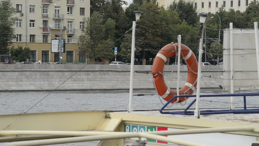 13.08.2015  Navigation on the Moscow river. - HD stock video clip