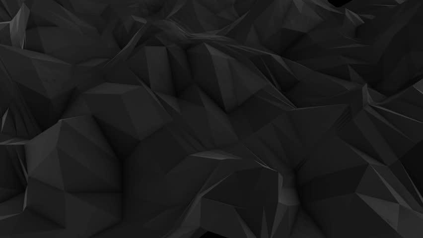 Abstract dark 3d rendered geometric background with spikes and low contrast texture, surface is devided into random sized triangles | Shutterstock HD Video #15390895