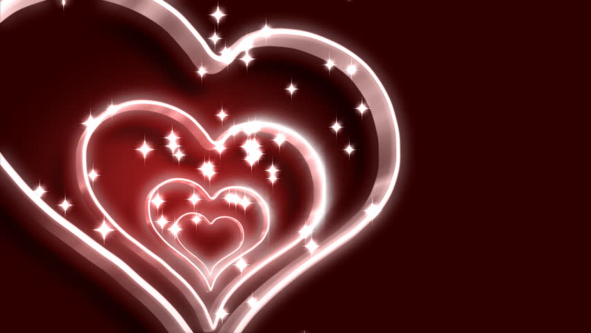 Rotating pink heart - HD stock video clip