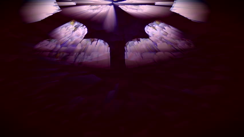 Abstract sun rays shining through stained glass windows. HD 1080i - HD stock video clip