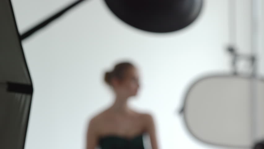Backstage of workshop in a studio.  - 4K stock video clip