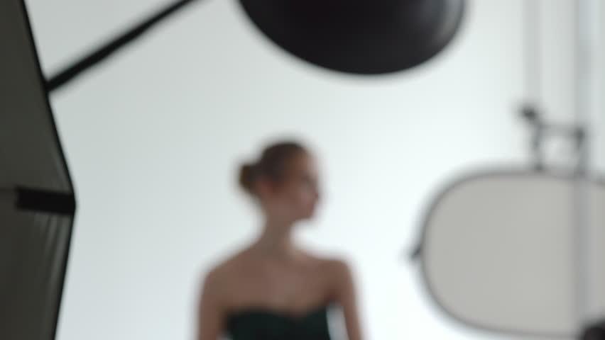 Backstage of workshop in a studio.  - 4K stock footage clip