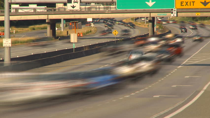 freeway traffic - HD stock footage clip