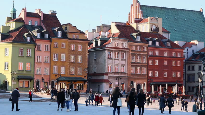 Old Town in Warsaw is placed on the UNESCO's list of World Heritage Sites. The main historic attraction for tourists in capitol of Poland. March, 2016