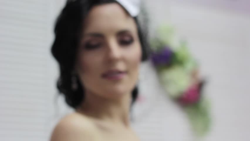 Beautiful Young bride - HD stock footage clip