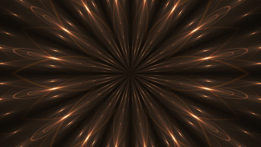 Kaleidoscope gold light and black background, loop | Shutterstock HD Video #15827989