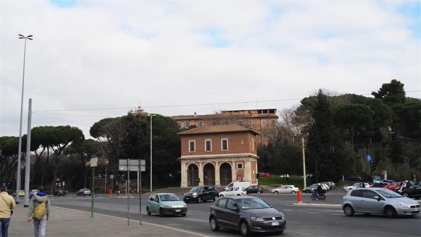Porta Capena was a gate in the Servian Wall near Caelian Hill, in Rome, formerly a sacred forest where Numa Pompilius and Egeria met. Porta Capena square also hosts Casino La Vignola Boccapaduli.